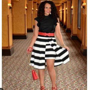 New York and Company Skirt with peekaboo skirt